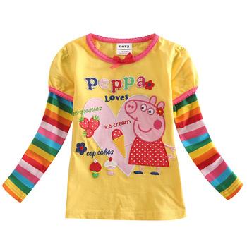 retail autumn girls t shirt long sleeve children t shirts Girl clothes children clothing t shirt for girls tops kids clothes
