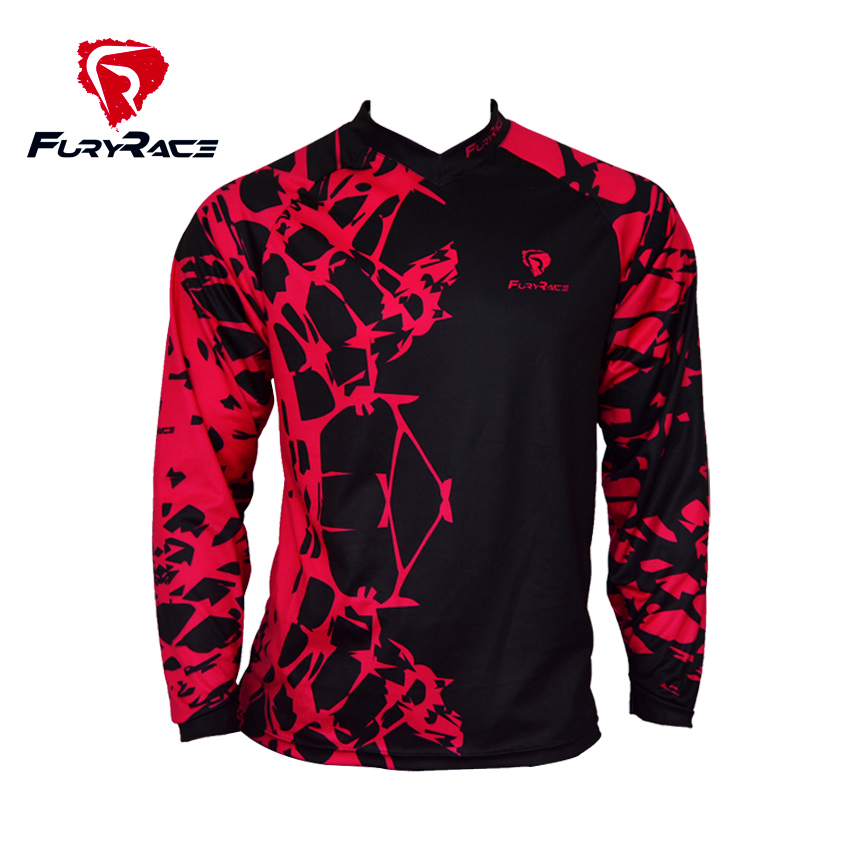Furyrace Men's Downhill Jersey MTB Motocross BMX T-Shirts Mountain Road Bike Ciclismo Sleeves Roupa Accept Custom SIZE; XS - 4XL(China (Mainland))