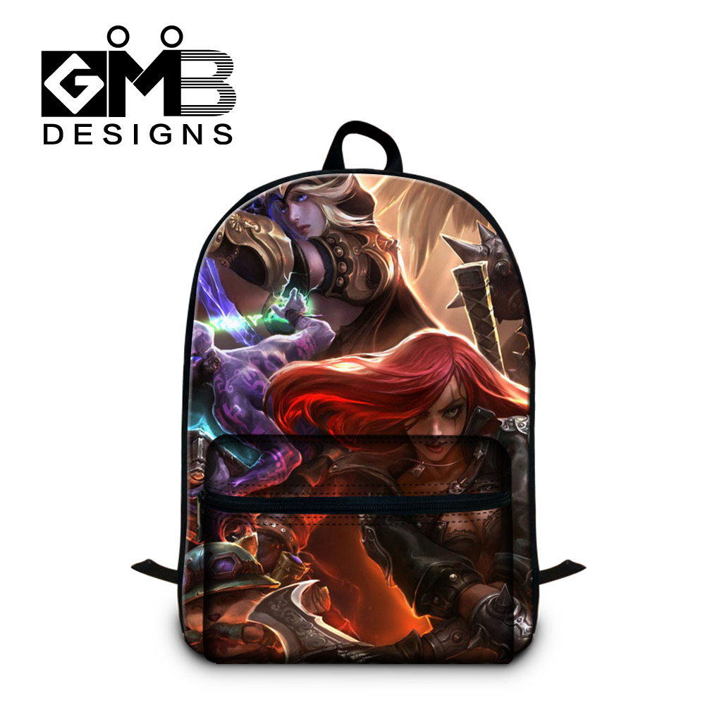 Cool Anime backpacks for girls college students stylish school book bags for laptop computer boys day pack,lightweight back pack(China (Mainland))