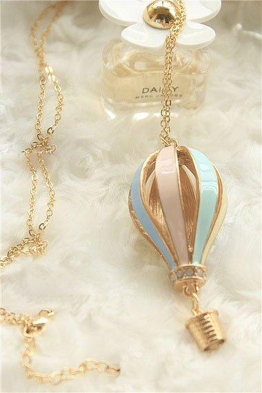 HOT SALE! street fashion hopeful colorful Hot Balloon Pendant Necklace.NL162 el collar(China (Mainland))