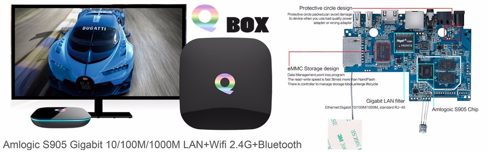 image for 2016 TX8 TV Box Android 6.0 2G 32G Amlogic S912 Octa Core Android6.0 S
