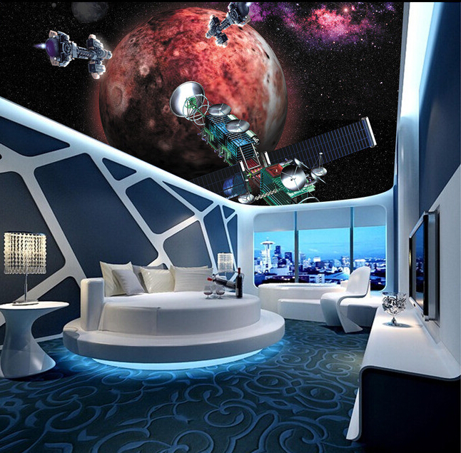 de parede 3 d star and space shuttle for the living room bedroom