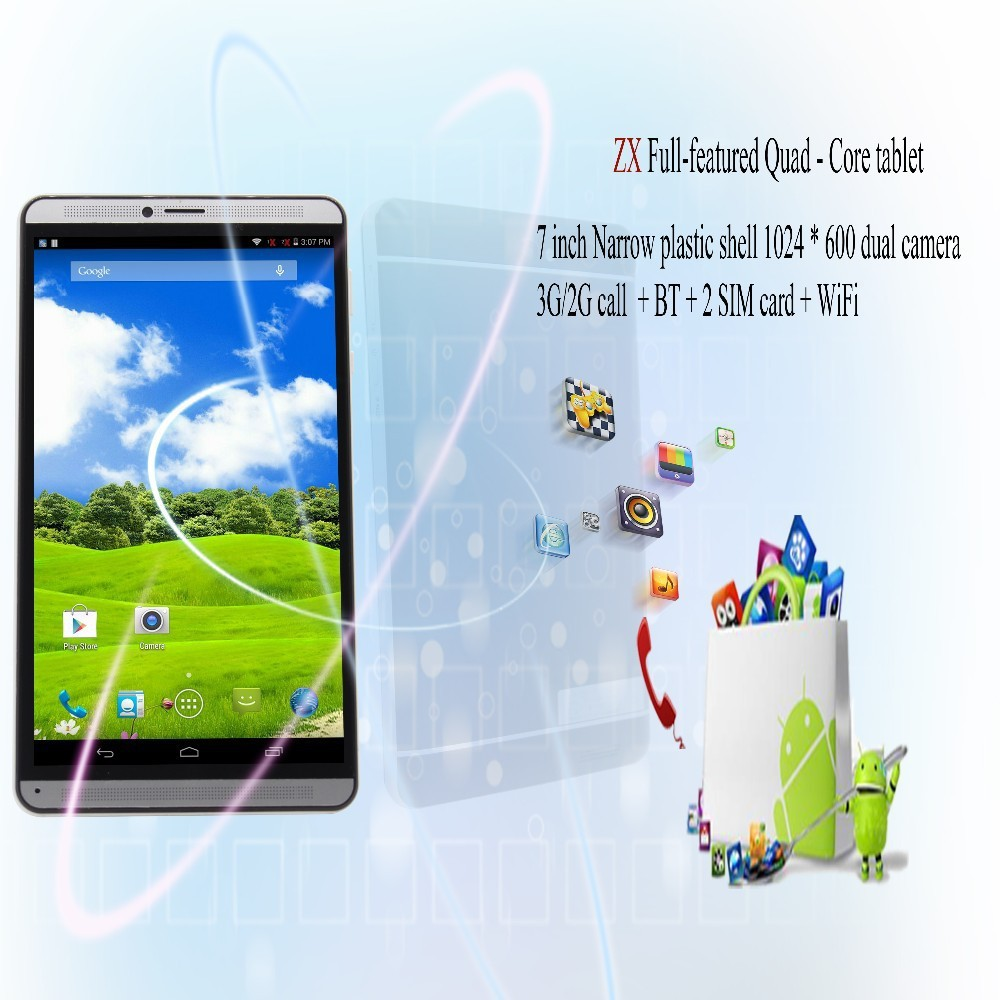 Планшетный ПК BDF 7 Android 3G Tablet Pc WiFi Bluetooth SIM Pc /2SIM Quad core 1 8