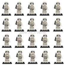 Star Wars Minifigures 20pcs/lot Clone Trooper Stormtrooper Darth Vader Yoda Corps Solider starwars Toys Compatible Decool