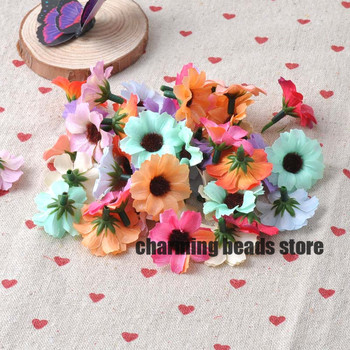 mixed Artificial Silk Flowers Head for Wedding Decoration DIY 50pcs 31mm CP0079X