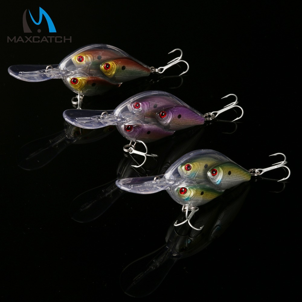 New Arrival Hard Fishing Lures 65mm 18g 0-2.5m Dive Fish School Crank Fishing Lure Artificial Fishing Lures(China (Mainland))