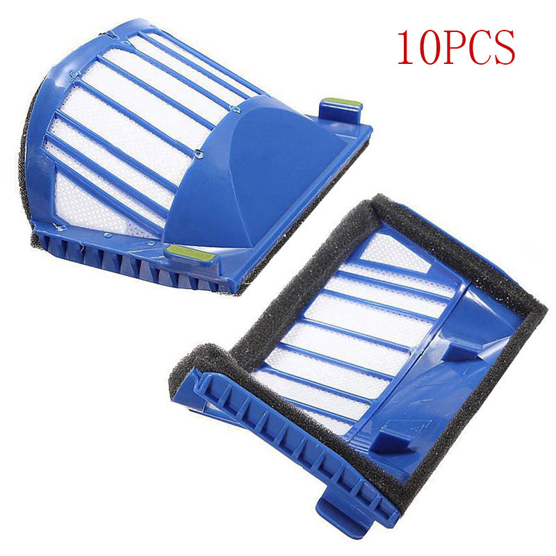 Wholesale 10 Pcs AeroVac Filter for irobot Roomba 600 Series 610 615 620 625 630 650 660 Vacuum Cleaner Roomba Accessory(China (Mainland))