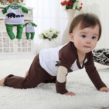 "Free shipping!!!Toddler Kid Boy baby Girl Long Sleepwear Pyjama Set Tshirt+Pants ""Elephant Family"" 2 colors(China (Mainland))"