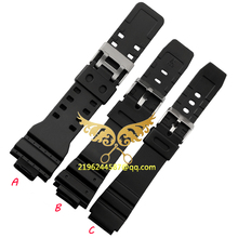 2015 New Watchbands Soft Fashion Silicone Strap Buckle Wrist Watch Band 16mm 18mm 20mm 22mm Black Military Accessories Hot Sale
