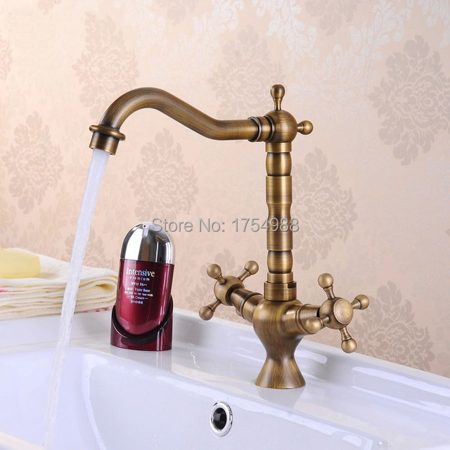 Antique Bathroom Faucets 360Degree rotating faucets antique bronze bathroom tap antique brass faucet Kitchen antique faucet(China (Mainland))