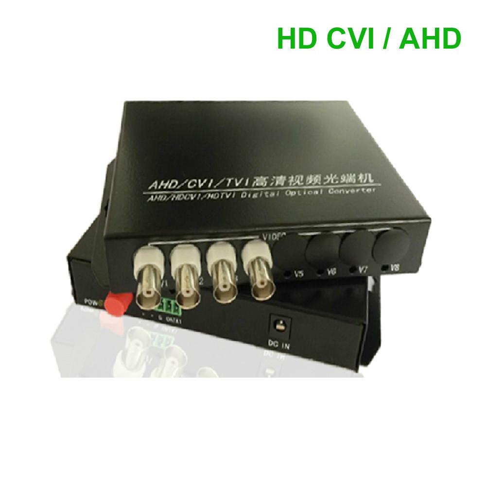 HD CVI 4 Channel Video data optical Media Converter Transmitter Receiver -1Pair for 720P 960P AHD CVI HD cameras CCTV(China (Mainland))