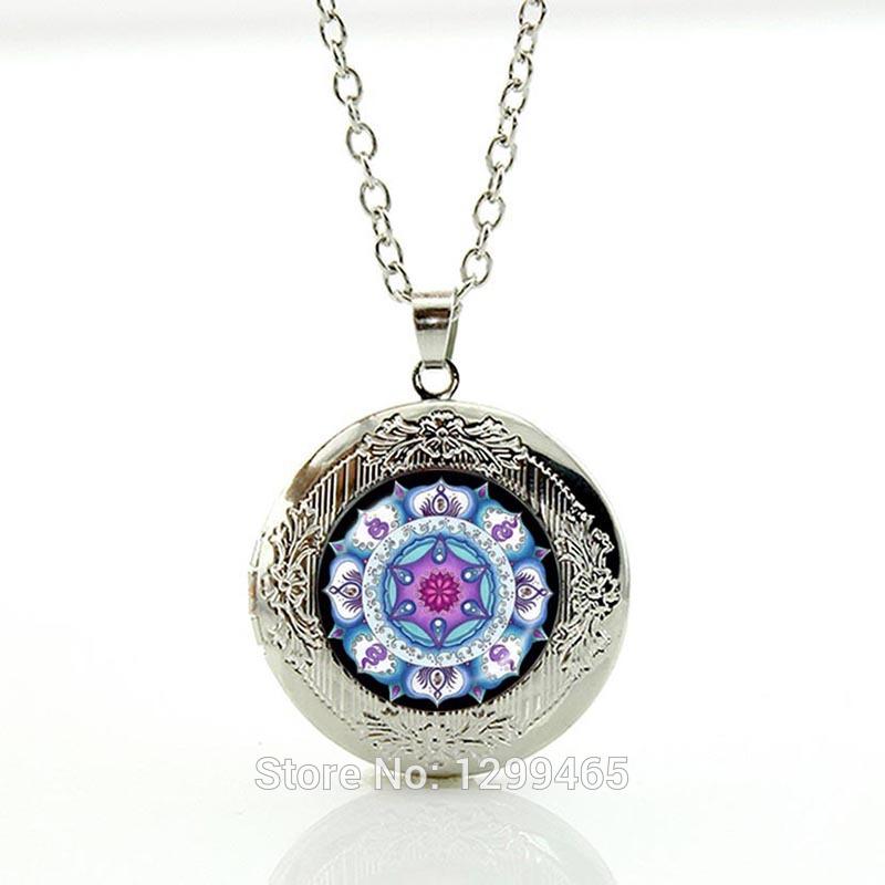 Hinduism accessories Mandala pendant necklace 2015 New Fashion Picture Necklace Wholesale Buddhist jewelry chakra N293(China (Mainland))