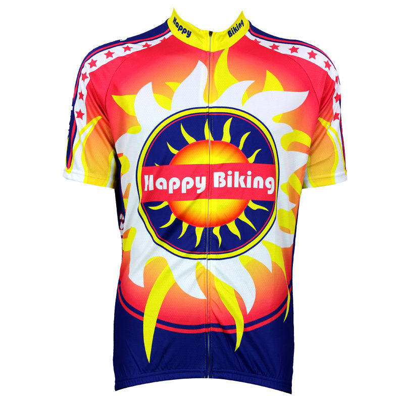 New Mens Cycling Jersey Comfortable Bike/Bicycle Shirt Happy biking Sun logo Alien SportsWear Size 2XS-5XL(China (Mainland))