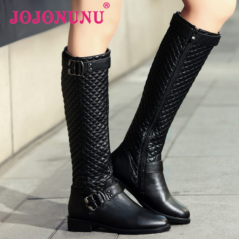 Гаджет  CooLcept Free shipping over knee high heel Genuine Leather boots women snow fashion winter warm shoes R5295 EUR size 33-43 None Обувь