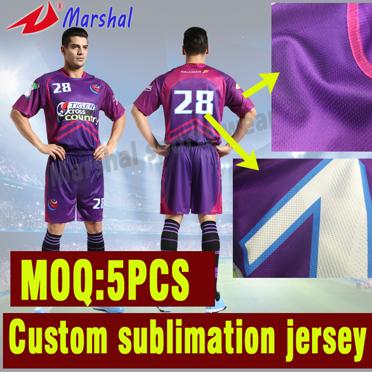 Hot Sale Quick Dry Football Jersey Set Kits Sublimated Top Quality Football Uniform(China (Mainland))
