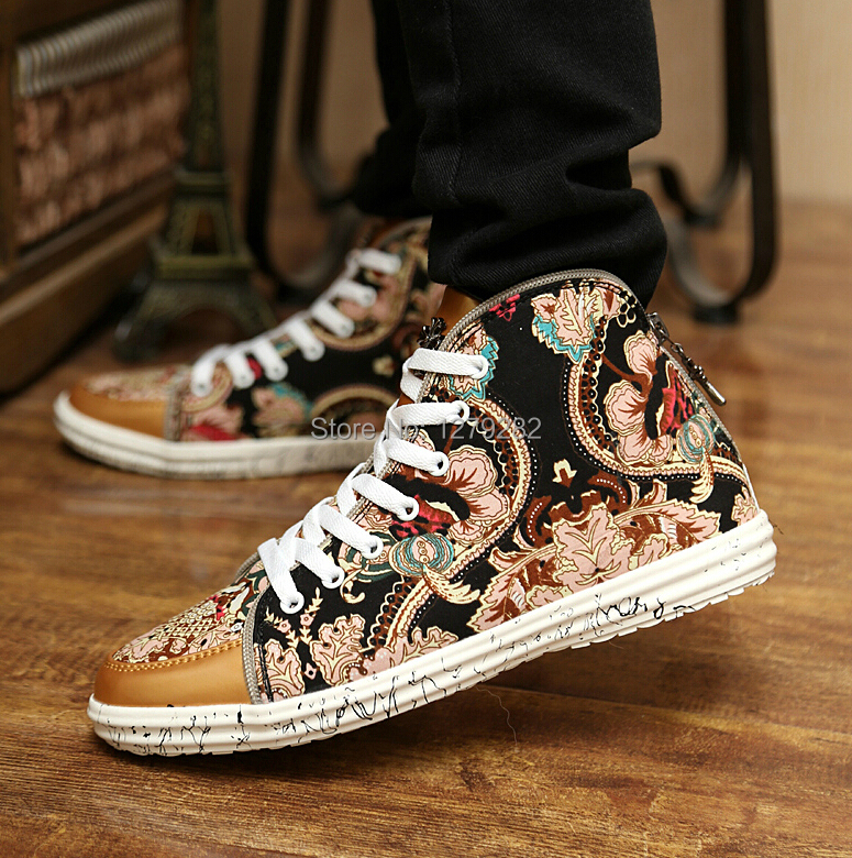 Hot sell !!2014 new style sneakers man shoes Individual character decorative pattern ankle boots suede boots man boots XX162(China (Mainland))