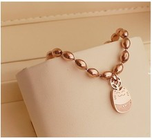 Free Shipping!New Jewelry Fashion Korean Style 18k Rose Gold Plated Cute My Neighbor Totoro Cat Chain Bracelet(China (Mainland))