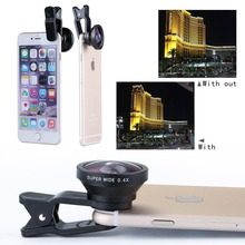 Buy Universal Camera Phone Lens Clip 0.4X Super Wide Angle Lens iPhone 6s/6s Plus, Samsung HTC Android mobile phones CL-45S for $8.99 in AliExpress store