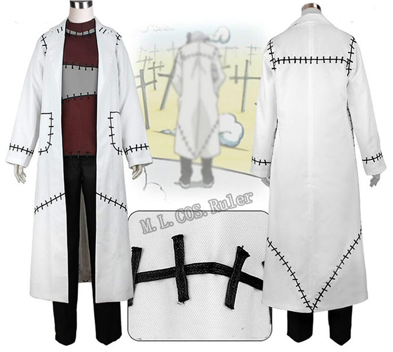 Soul Eater Cosplay Franken Stein Doctor Costume Cosplay Free Shipping(China (Mainland))