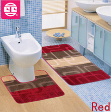 2psc/Set Toilet Mat For Bathroom Carpet Home Decoration Car Modern Rugs Designs Area Rugs For Home Bathroom Carpet Doormat Mat(China (Mainland))