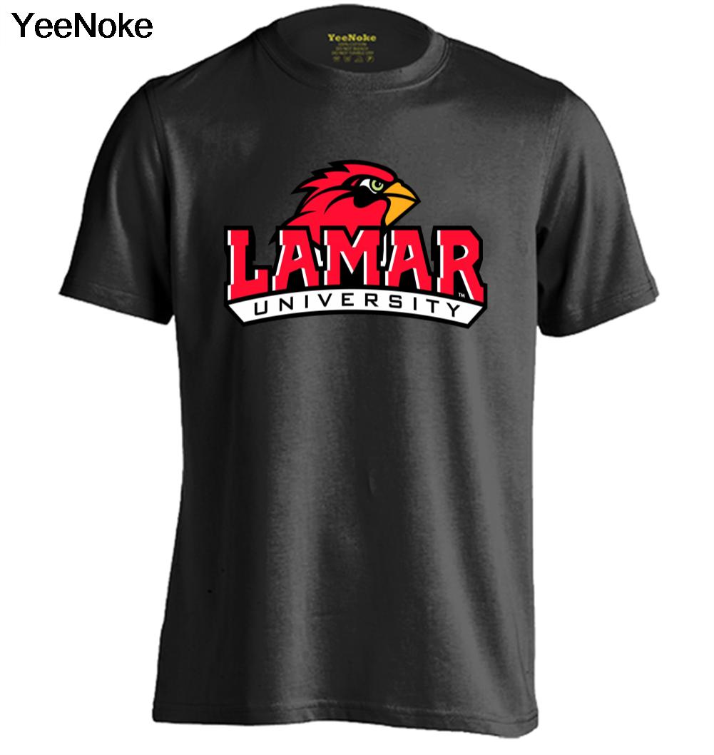 LAMAR CARDINALS NCAA Mens & Womens Trendy Fitness T Shirt Printing T Shirt(China (Mainland))