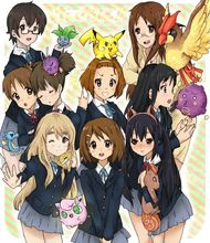 0710 40x60cm K-ON Meets Pokemon Anime K On Hot Japan Art Animation Poster Print – Print Canvas Poster Home Decor poster