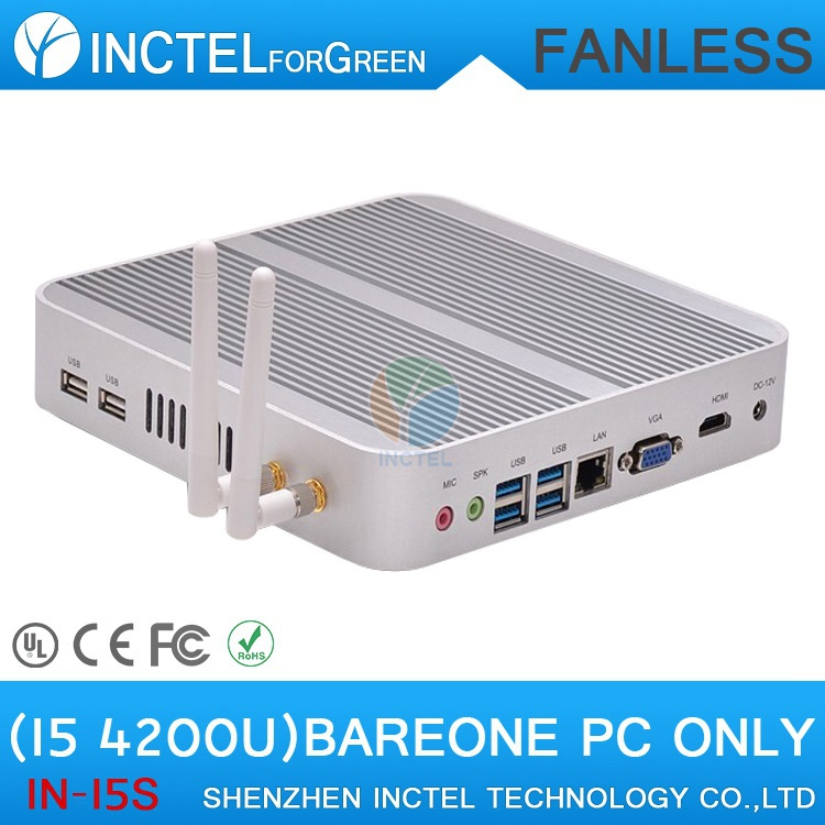 Fanless PC 4K mini pc i5 4200u with Intel Core i5 4200U 1.6Ghz CPU Haswell Architecture SOC design aluminum chassis(China (Mainland))