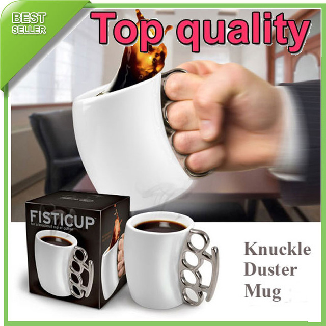 36PCS/LOT Fisticup With Brass Knuckle Handle Fist Cup Creative Coffee Mug,FREE SHIPPING