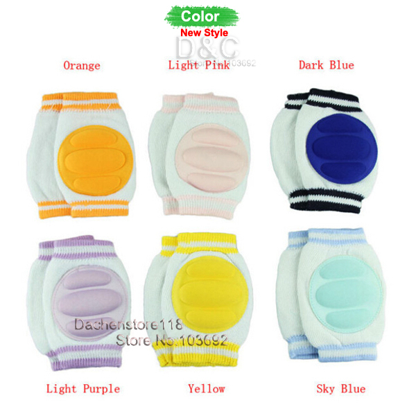 2015 Updated Six 6 pair Good Quality Baby Safety cotton Knee Pad Infants Kids Socks Children Short Kneepad Crawling Protector(China (Mainland))