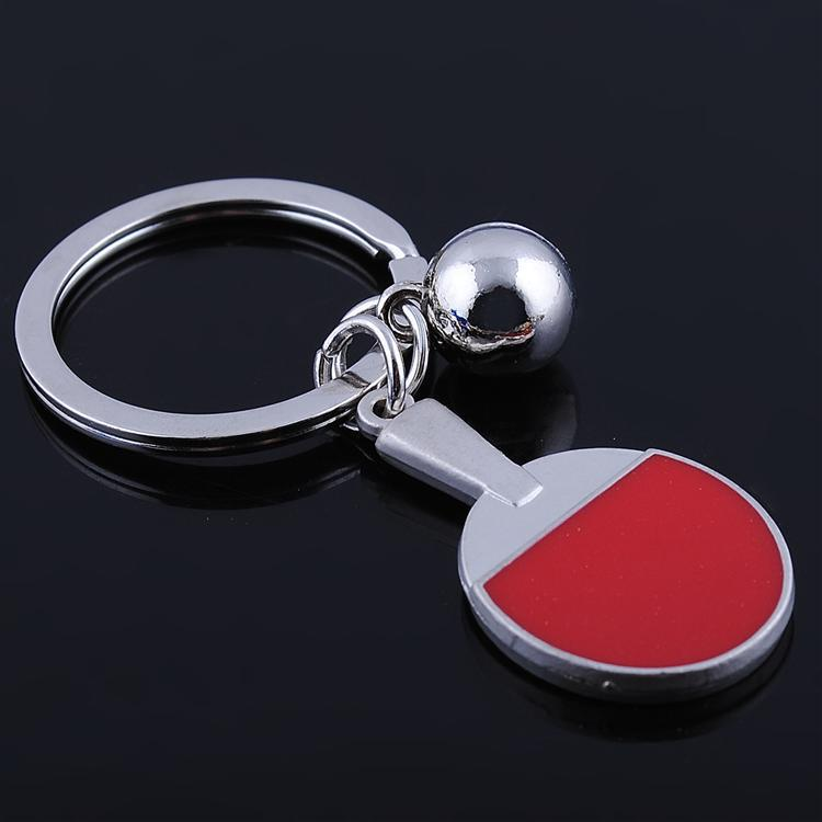 Table tennis table tennis racket model key chains personality creative gift key ring sports event gifts can be customized logo(China (Mainland))
