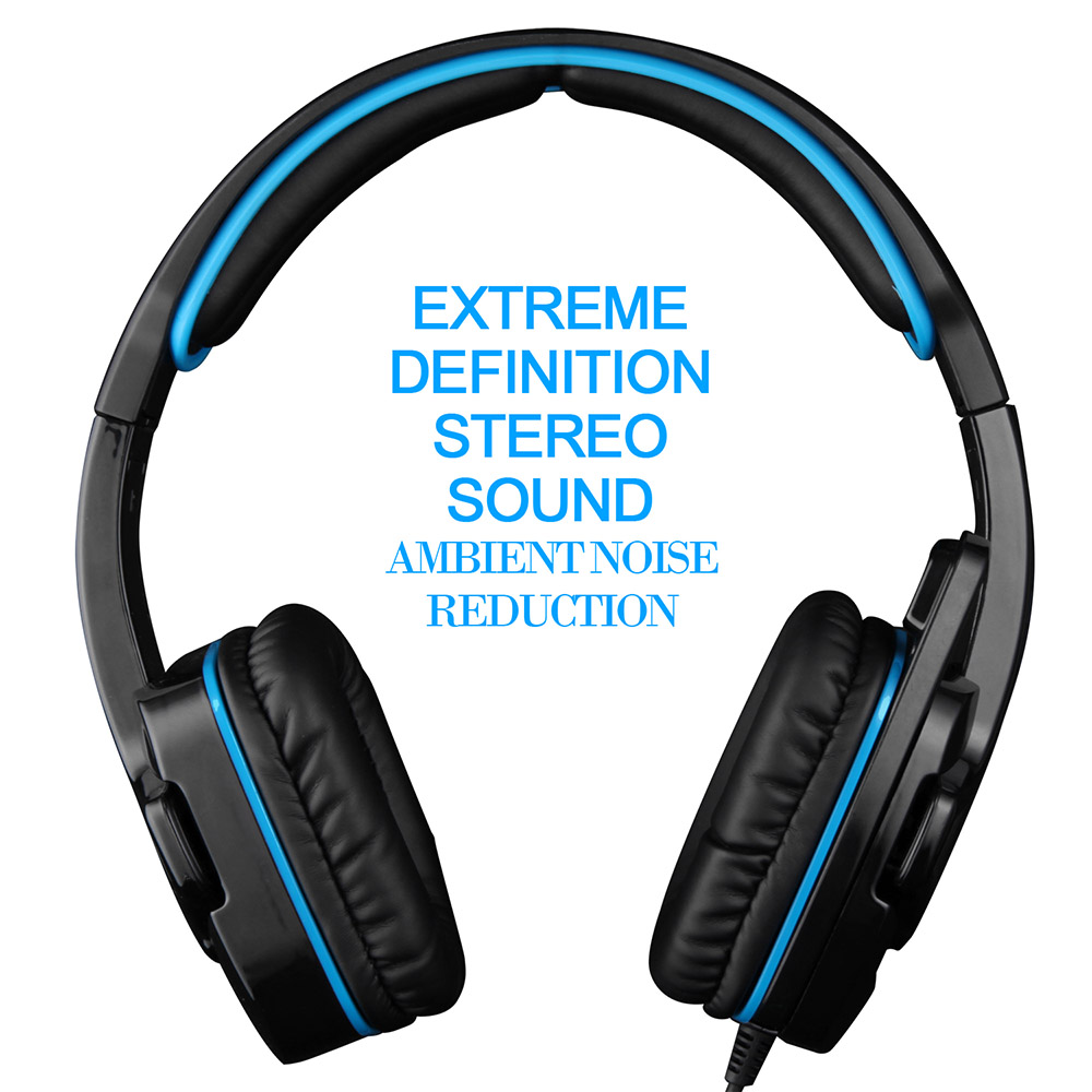 SADES SA-708GT Professional Over-ear Game Headset 3.5mm Noise Cancelling Gaming Headphone with Mic For PC Tablet PS4 XBOX 360(China (Mainland))