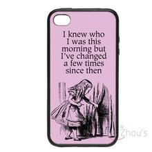 For iphone 4/4s 5/5s 5c SE 6/6s plus ipod touch 4/5/6 back skins mobile cellphone cases cover Alice 'This Morning' Designs