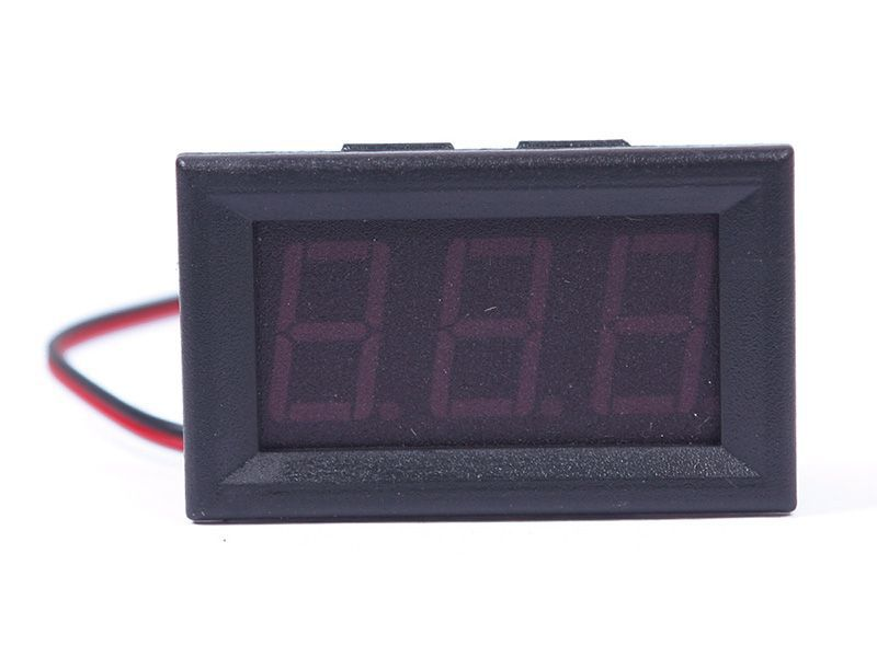 1PC DC 0-30V 3-Digital Red LED Display Voltage Voltmeter Motorcycle Panel 01 US AS #55834(China (Mainland))