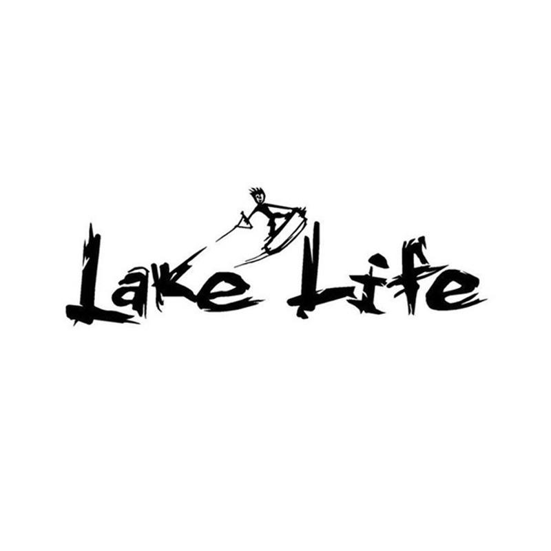 27*10CM LAKE LIFE Car Sticker Interest Surf Life Movement Reflective Car Stickers Decals Black/Silver CT-475(China (Mainland))