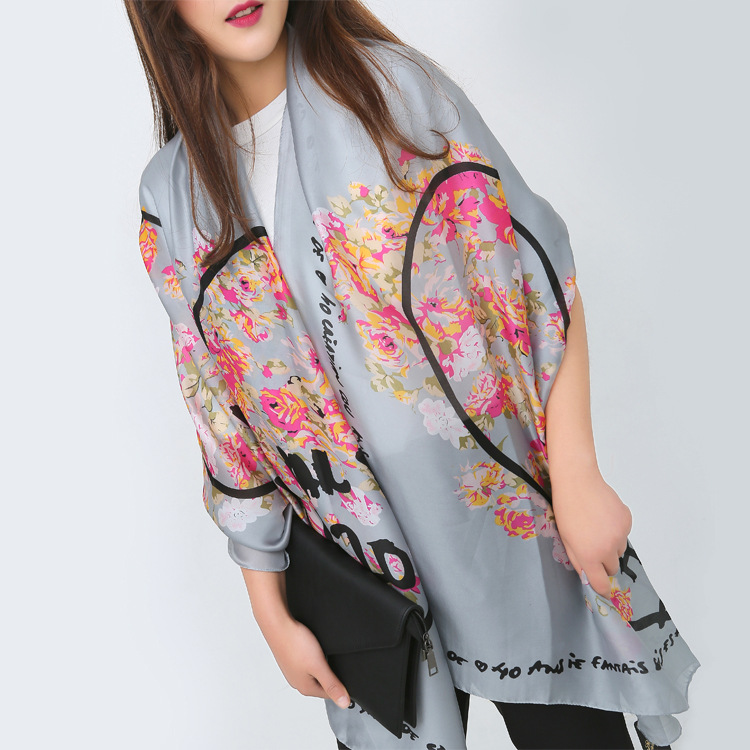 Thousands of birds lattice grid plaid wool cashmere fashion shawl long autumn and winter women warm scarf