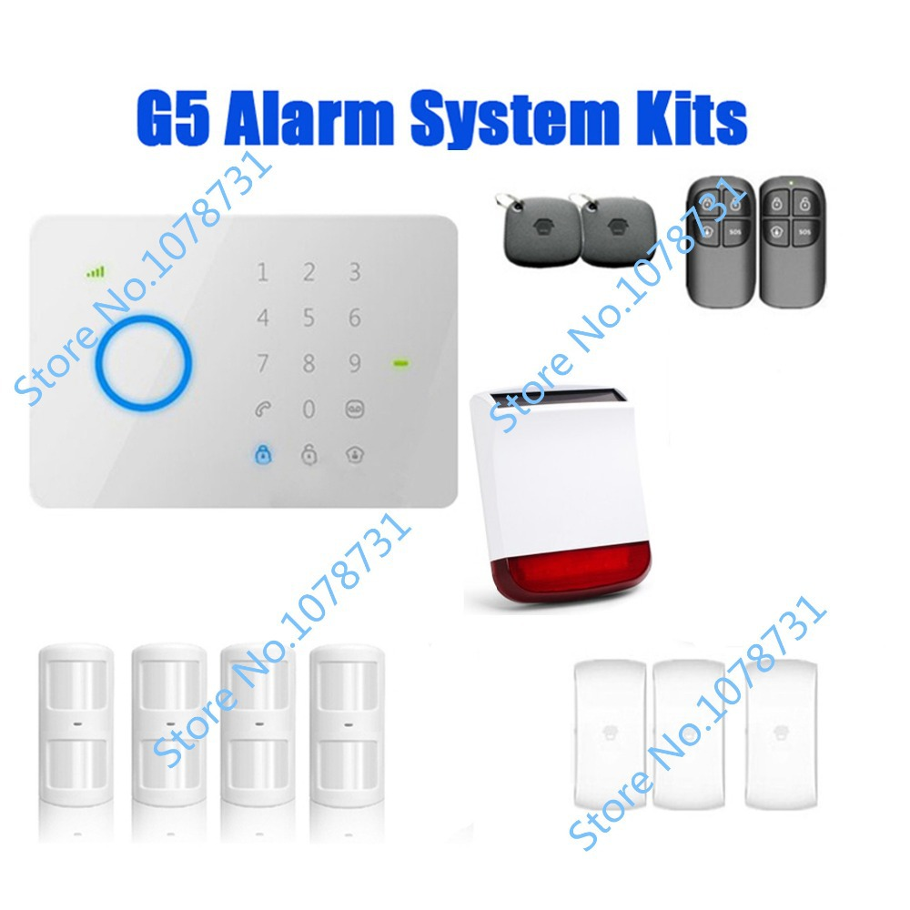 DHL Free Shipping Chuango G5 315Mhz Touch Keypad GSM SMS Wireless Home Security Burglar Alarm System 4PIR910+3DWC102 + 1 SPS-260<br><br>Aliexpress