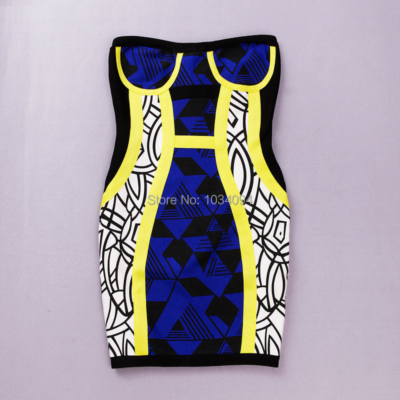 Women Summer Bandage Dresses 2014 Elegant Sweetheart Strapless Colorful Short Party Cocktail Dress Celebrity