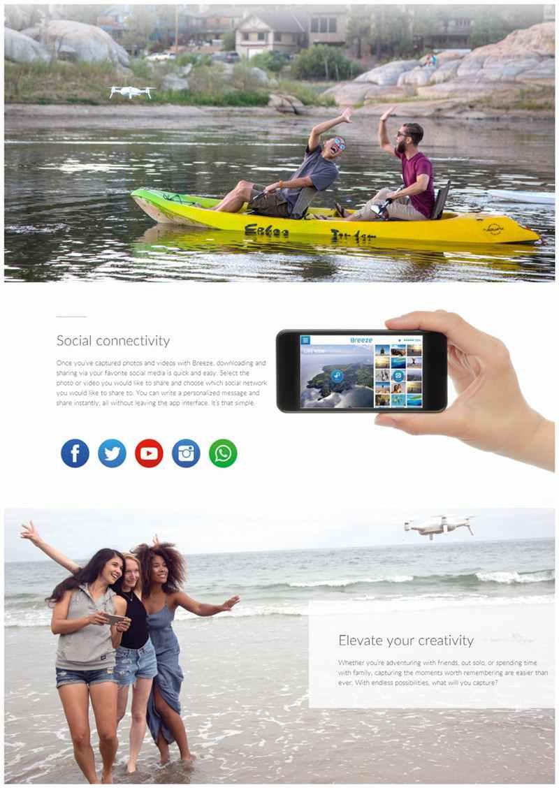 Yuneec Breeze Drone WIFI FPV With 4K HD Camera