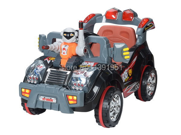 Super Cool Double Drive Remote Control Electric Baby Cars Fashionable 4 Wheels Car Kids Electric Great Children Ride On Car Gift(China (Mainland))