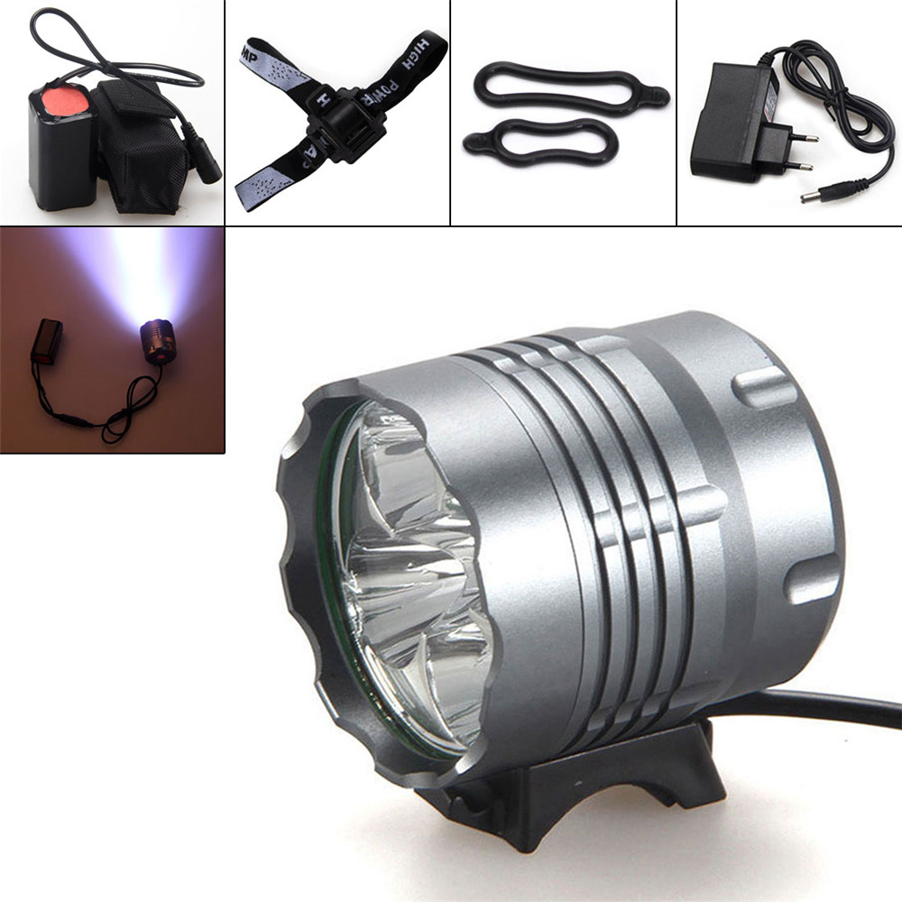 Hot selling Bike Headlamp 8000Lm 5x XM-L U2 LED Front Bicycle Light Bike Headlamp Headlight Camping Fishing Caving