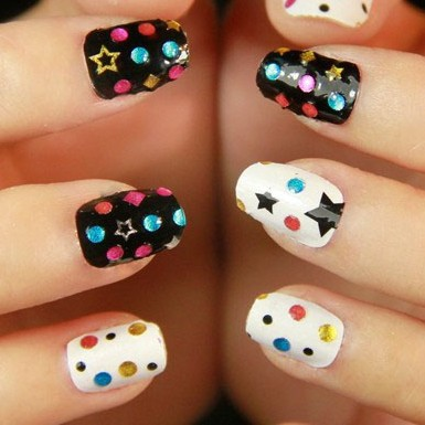 Hot Sale 3 D Nail Art Sticker Decal Manicure Tip.4.16363. French Style Nail Art Decoration Free Shipping(China (Mainland))