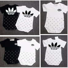 2Pcs / Lot Short Sleeve Baby Rompers 100% Cotton Brand Newborn Baby Clothes Baby Girl Summer Clothing Sets 0-24months(China (Mainland))