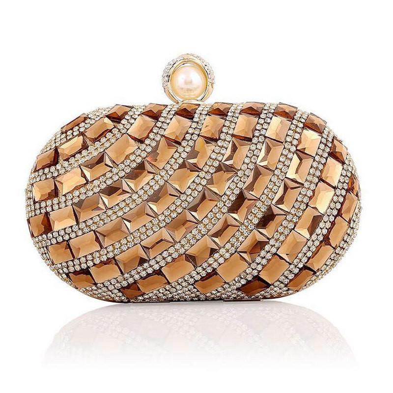 ซื้อ 2016ใหม่ถุงเย็นRhinestoneคริสตัลทองวันคลัทช์กระเป๋าจัดเลี้ยงB Lingอาหารค่ำจัดงานแต่งงานC Lutches C Rossbodyกระเป๋าสะพายLi450