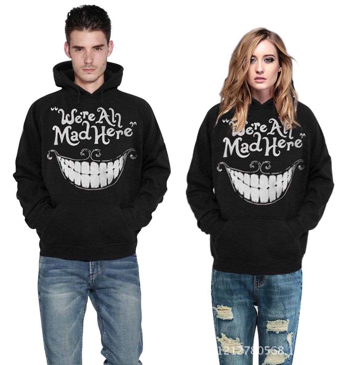 Cheshire Cat Smile 3D Digital Printing Cap Baseball Jacket Hooded Sweatshirts Casual Hoodies Lovers Pullovers(China (Mainland))