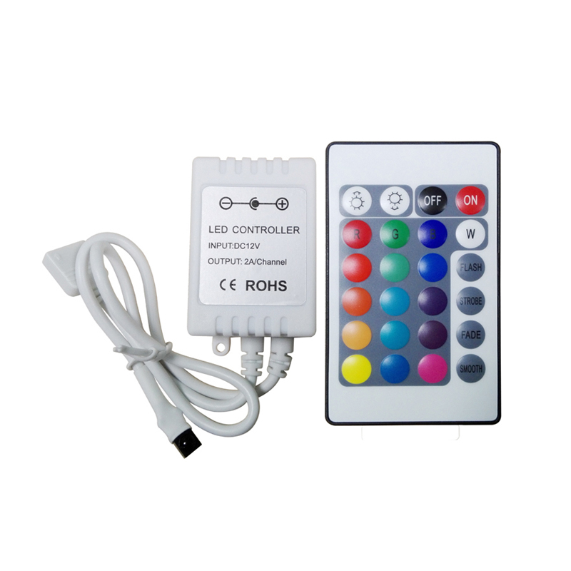 mini 24 keys RGB led strip control IR remote controller for 3528 5050 <br><br>Aliexpress