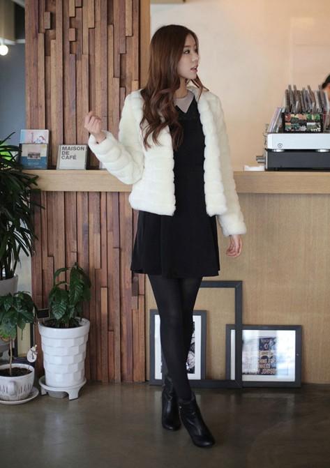 faux Fake Female rabbit fox fur vest mink jaqueta feminina Coat 2016 autumn winter Plus Size women Vintage fur coat TS481(China (Mainland))