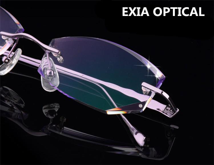 eyewear online shopping dsb1  HMC Glasses Rimless Fashion Women's Titanium Frame Eyewear RX Prescription  EXIA OPTICAL KD-43 Series