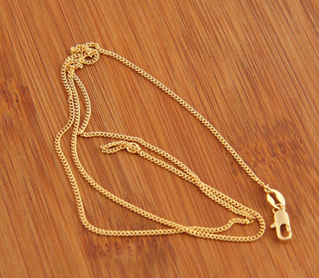 Free Shipping, Classic 18K Glod Plated Link Chain Necklaces