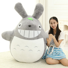 60CM Famous Cartoon Totoro Plush Toys Smiling Soft Stuffed Toys High Quality Dolls Factory Price Lovely Doll Totoro(China (Mainland))