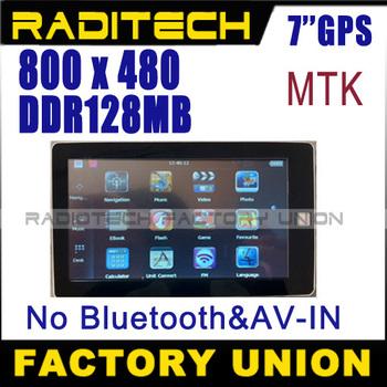 2012 Maps! 7 inch tablet pc stype GPS navigation 4G internal memory DDR 128 MB GPS navigator GPS700203